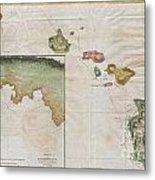 1785 Cook  Bligh Map Of Hawaii  Metal Print
