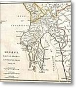 1786 Bocage Map Of Messenia In Ancient Greece Metal Print