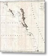 1786 La Perouse Map Of Vancouver And British Columbia Canada Metal Print