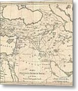 1787 Bonne Map Of The Dispersal Of The Sons Of Noah Metal Print