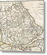 1788 Bocage Map Of Thessaly In Ancient Greece Metal Print