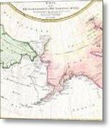 1788 Schraembl Map Of The Northwest Passage Metal Print
