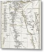 1794 Anville Map Of Ancient Egypt  Metal Print