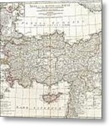 1794 Anville Map Of Asia Minor In Antiquity Metal Print