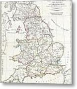 1794 Anville Map Of England In Ancient Roman Times Metal Print