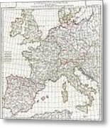 1794 Anville Map Of Europe In Late Roman Times Metal Print
