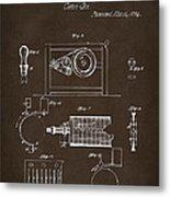 1794 Eli Whitney Cotton Gin Patent 2 Espresso Metal Print