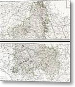 1797 Tardieu Map Of Champagne France Metal Print