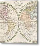 1798 Payne Map Of The World  Metal Print