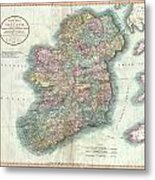 1799 Cary Map Of Ireland  Metal Print