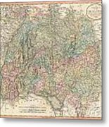 1799 Cary Map Of Swabia Germany Metal Print
