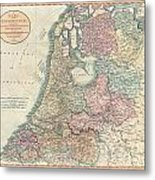 1799 Cary Map Of The Netherlands Metal Print