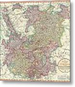 1799 Cary Map Of The Upper And Lower Rhine Metal Print