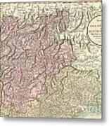 1799 Cary Map Of Tyrol Metal Print