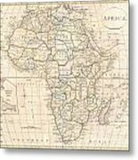 1799 Clement Cruttwell Map Of Africa  Metal Print