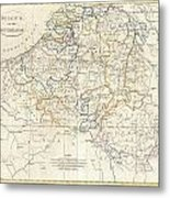 1799 Clement Cruttwell Map Of Belgium Or The Netherlands Metal Print
