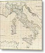 1799 Clement Cruttwell Map Of Italy Metal Print