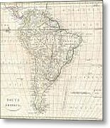 1799 Clement Cruttwell Map Of South America  Metal Print