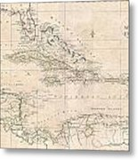 1799 Clement Cruttwell Map Of West Indies Metal Print