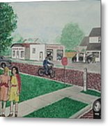 17th And Hutchins Street Portsmouth Ohio Metal Print