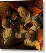 17th Century Maidens Metal Print