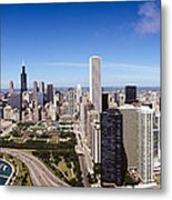 Aerial View Of Buildings In A City Metal Print