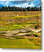 #18 At Chambers Bay Golf Course - Location Of The 2015 U.s. Open Tournament Metal Print