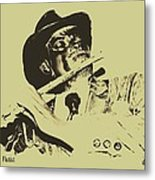 The Jazz Flutist Metal Print