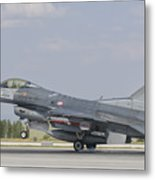Turkish Air Force F-16 During Exercise Metal Print