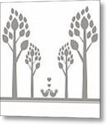 Valentine Tree Metal Print