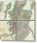 1801 Cary Map Of Scotland  Metal Print