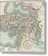 1801 Cary Map Of Turkey Iraq Armenia And Sryia Metal Print