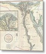 1805 Cary Map Of Egypt Metal Print