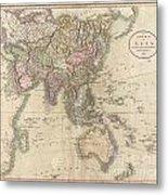 1806 Cary Map Of Asia Polynesia And Australia Metal Print