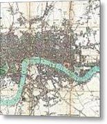 1806 Mogg Pocket Or Case Map Of London Metal Print