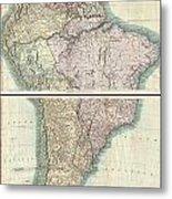 1807 Cary Map Of South America Metal Print