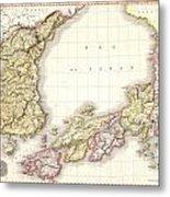 1809 Pinkerton Map Of Korea And Japan Metal Print