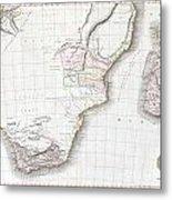 1809 Pinkerton Map Of Southern Africa Metal Print