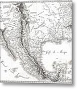 1811 Humboldt Map Of Mexico Texas Louisiana And Florida Metal Print