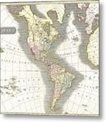 1814 Thomson Map Of North And South America Metal Print