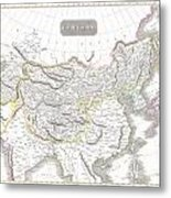 1814 Thomson Map Of Tartary  Mongolia Tibet Metal Print