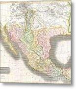 1814 Thomson Map Of Texas Mexico  Louisiana Metal Print