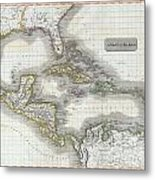 1814 Thomson Map Of The West Indies And Central America  Metal Print