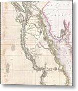 1818 Pinkerton Map Of Egypt Metal Print
