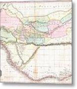 1818 Pinkerton Map Of Western Africa  Metal Print
