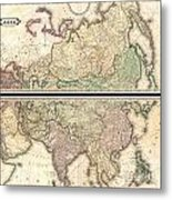 1820 Lizars Wall Map Of Asia Metal Print