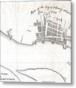 1820 Yates Map Of Albany Circa 1770 Metal Print