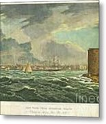 1825 Wall And Hill View Of New York City From The Hudson River Port Folio Metal Print