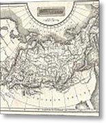 1826 Assheton Map Of Russia In Asia Metal Print