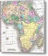 1827 Finley Map Of Africa Metal Print